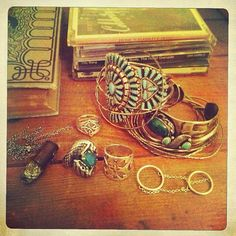 Been collecting since I was 12, I just love turquoise, heavy metals, silver, stones, amber.... ;)