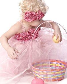Pink and roses tutu dress