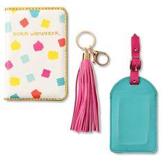 Fun And Flirty Travel Set Passport Folio, Luggage Tag And Keychain 2 - Mara Mi