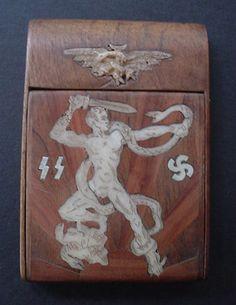 Card Case Having Belonged to Reichsprotector and SS Runes Obergruppenfuhrer Reinhard Heydrich