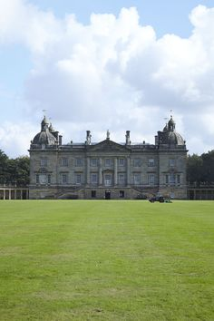 Houghton Hall was built in the popular Palladian style by Sir Robert Walpole, the first prime minister of Great Britain.