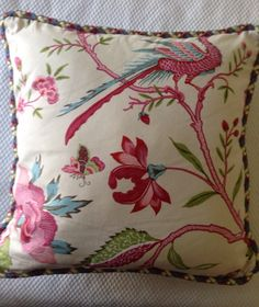 A personal favorite from my Etsy shop https://www.etsy.com/listing/183737773/20-inch-brunschwig-fils-nemours-pillow