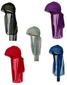 3af0973c834 Do Rag Du rag Nylon Wave Cap Pack Black Red Royal Blue Purple Gray. Set of  5 Wave Caps with ties  Black