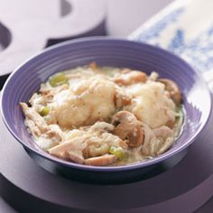 Quick Chicken and Dumplings Recipe from Taste of Home -- shared by Lakeye Astwood of Schenectady, New York
