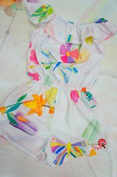 Macaquinho Lilás Fashion Mon Sucré Toddler Fashion, Kids Fashion, Baby Girl Dress Patterns, Newborn Girl Outfits, Kids Frocks, Girls Pajamas, Cute Outfits For Kids, Stylish Kids, Kids Wear