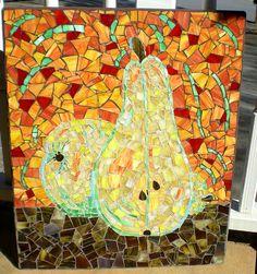 Pear Mosaic Wall Art - Pined By    http://www.mosaicmosaic.com/