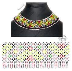 Platinum-Plated Sterling Silver and Swarovski Zirconia Round-Cut Antique Pendant Necklace, - Top Drawer Jewelry Diy Necklace Patterns, Beaded Jewelry Patterns, Beading Patterns Free, Bead Loom Patterns, Handmade Beads, Bead Weaving, Jewelry Making, Seed Beads, Key Hangers