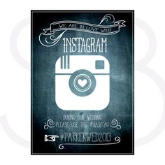 Chalkboard Instagram Sign via Etsy
