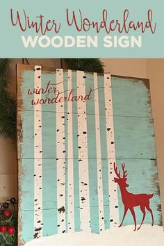 Envision your winter wonderland on a wooden sign. @DecoArt #decoartprojects #decoartprojects
