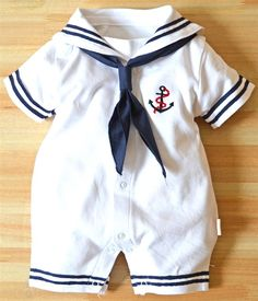 Dragon Honor Baby Boys Girls Sailor One Piece Bodysuit Navy Romper Outfit Clothes Neckerchief Toddler Outfits, Baby Boy Outfits, Kids Outfits, Baby Boy Fashion, Kids Fashion, Boys Formal Wear, Baby Boy Dress, One Piece Bodysuit, Romper Outfit