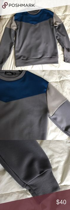 Topman colorblock sweater Size:XXS. Fits more like a S. perfect condition, new never been worn but does not have tags Topman Sweaters Crewneck