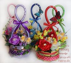Cd Crafts, Easter Crafts, Diy And Crafts, Candy Bouquet Diy, Diy Bouquet, Paper Flowers Craft, Flower Crafts, Christmas Crafts For Kids, Holiday Crafts