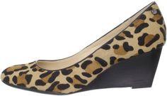 Calvin Klein Calvin Klein Womens Saxton Haircalf Wedge Pump in Animal (leopard) - Lyst