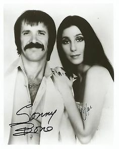 SONNY BONO & CHER SIGNED 8X10 I GOT YOU BABE THE BEAT GOES ON ALL I EVER NEED