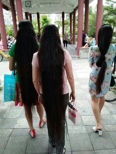 Rapunzel Hair, Super Long Hair, Beautiful Long Hair, Layered Cuts, Dream Hair, Moon Art, Female Images, Hair Lengths, Asian Woman