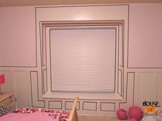 Adding board and batten to a bay window.  Before and After pics! Complete tutorial at www.houseofhepworths.com