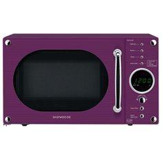 Daewoo Retro Microwave Oven, 20 Litre, Mint | Interior design ...
