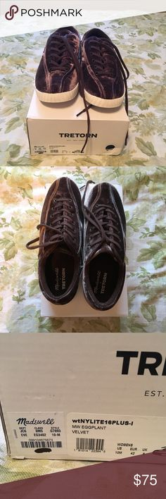 NWT Madewell x Tretorn Nylite Plus in Velvet BRAND NEW Madewell x Tretorn Nylite Plus eggplant colored  sneakers. Velvet material.  WOMENS SIZE 10 Madewell Shoes Sneakers