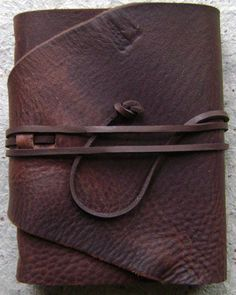 old world leather journal by dancing grey studio
