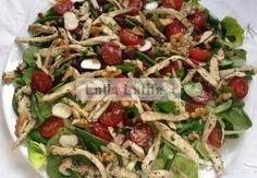 Salade fraîche blanc de dinde-noix | Les secrets de cuisine par Lalla Latifa