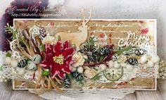 Девочки, привет!   Сегодня я хочу показать вам Рождественскую открытку с оленем. Основа крафт картон, текстурная паста, краски спреи, и к...