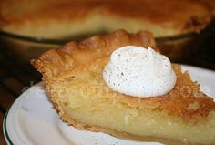 My grandmother made the best chess pie. I will have to try this one - Old Fashioned Buttermilk Chess Pie Köstliche Desserts, Delicious Desserts, Dessert Recipes, Yummy Food, Dessert Healthy, Pie Recipes, Sweet Recipes, Cooking Recipes, Cooking Tips