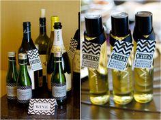 Mini wine bottle wedding favors