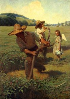 The Scythers - N.C. Wyeth -
