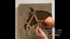 This is a time lapse video of my hammering and stringing a horse head. A popular piece on my Etsy shop for sure! String Art Diy, String Art Tutorials, String Crafts, String Art Patterns, Diy Wall Art, Diy Art, Doily Patterns, Diy Crafts For Gifts, Diy Home Crafts