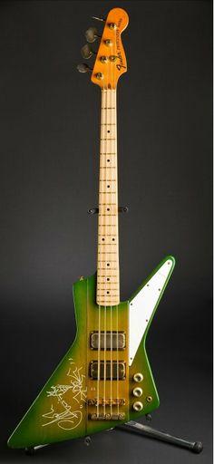 Flat Eric's Explorerbird Bass Greenburst