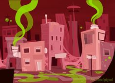Concept for a dirty city by Aisidedpipol on DeviantArt