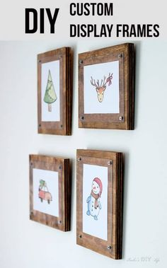 How to Make a Simple Photo Frame Gorgeous decor! How to make easy DIY custom frames for pictures and printables