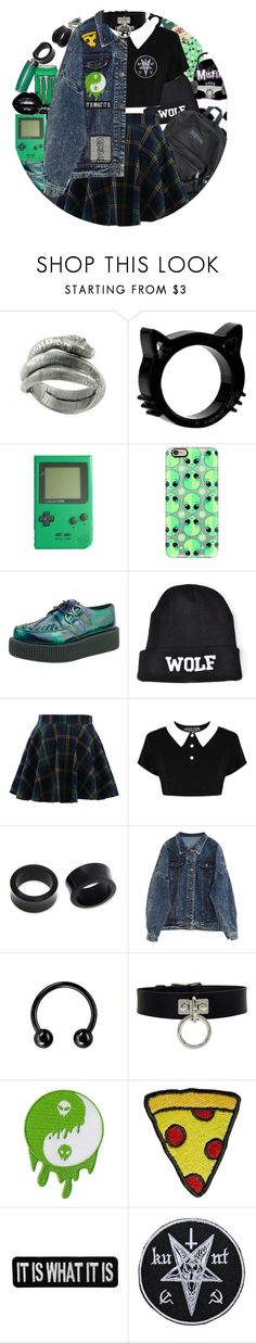 """Skater Punk (6)"" by chemicalfallout249 ❤ liked on Polyvore featuring Bjørg, Casetify, Chicwish, Killstar, NOVICA and Stoney Clover Lane"