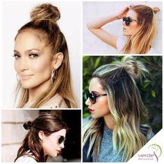 Saçlarda ki Yeni Trend! Yarım Topuz Modası Tüm saç tiplerini uygulayabileceğiniz yarım topuzlar ile çok fazla zaman kaybetmeden doğal ve şık bir elde edebilirsiniz Üstelik saçlarınızda renk geçişleri de varsa, yarım topuzla çokta etkileyici görüntü elde edebilirsiniz. Yarım topuz sokakların olduğu kadar podyumların da en trend saç modelleri arasında! #trend #moda #saç #yarımtopuz