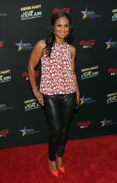 """Laila Ali Retired boxer Laila Ali  attends Movie Premiere """"Let Me Explain"""" with Kevin Hart during the 2013 BET Experience at Regal Cinemas L.A. Live on June 27, 2013 in Los Angeles, California."""