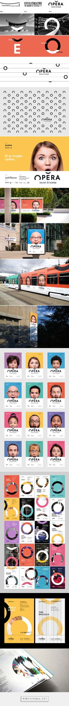 Saint Etienne Opera House - Brand design on Behance - created via http://pinthemall.net