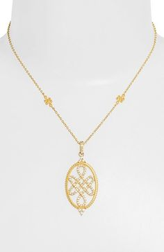 Freida Rothman 'Gramercy' Love Knot Pendant Necklace available at #Nordstrom