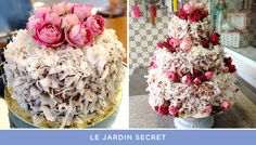 Bolo de casamento de coco ( Bolos: Le Jardin Secret )