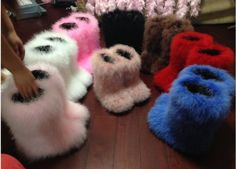 For slippers-Women Elegant Fur Mid-Calf Boot Pull On Winter Warm Height Increasing Shoes Fuzzy Boots, Faux Fur Boots, Cute Boots, Fluffy Shoes, Dragon Hoodie, Baskets, Fur Headband, Cute Slippers, Fashion Boots