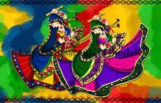 Raas Garba - Digital Art by Ankita Jhudele in Art Box at touchtalent 18645