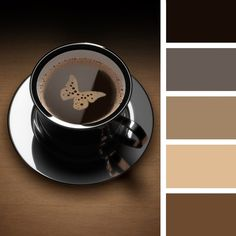 Black, coffee, tan, espresso color palette