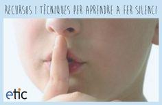 """Recursos i tècniques per aprendre a fer silenci - """"Recursos y técnicas para aprender a hacer silencio"""""""