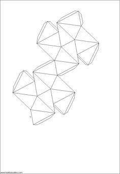Net Great Stellated Dodecahedron (medium)