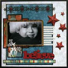 Scrapbooking.com -- Scrapbooking.com -- Layout - Believe by Tina McDonald for Spellbinders