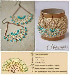 Macrame Bracelet Patterns, Crochet Jewelry Patterns, Crochet Accessories, Crochet Designs, Handmade Accessories, Bead Crochet Rope, Thread Crochet, Diy Crochet, Crochet Baby Hats