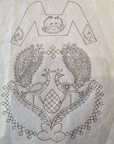 Hand Embroidery Dress, Hand Embroidery Designs, Embroidery Patterns, Kutch Work Designs, Hand Work Blouse Design, Box Design, Paper Design, Pj, Blouse Designs