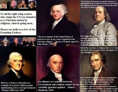 The Founding Fathers, Christianity & Deism DEISM is a philosophy maintaining that reason and observation of the natural world, without the need for organized religion, can determine that the un...