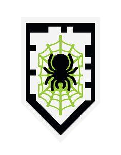 LEGO Nexo Knights schild (shield) scannen - Silk Spider - Spin your foes into prey! Buy Lego Nexo Knights on: https://www.olgo.nl/lego/lego-nexo-knights.html