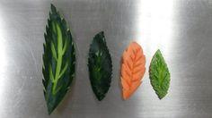 Hojas hechas con verduras