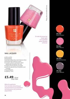 Fantastic clashing colours for your fingers and toes this summer 32 amazing colours Quote pinterest for 15% off your order www.myfmbusiness/perfumeboutique